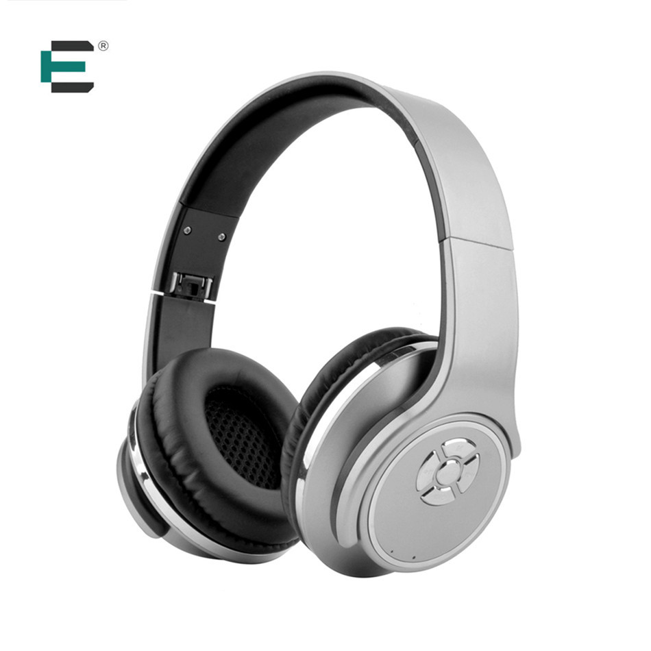 ET Bluetooth 4.2 Stereo Surround Sound Foldable Wireless Headset Micro SD Player 2 in 1 Bluetooth earphones Speaker Headphone trendwoo® twins bluetooth wireless speaker support 2 0 left and right stereo sound surround with built in microphone hands free music player