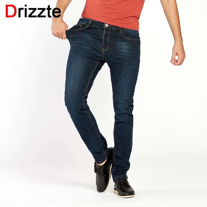 Drizzte Men's Jeans High Stretch Fashion Black Blue Denim Brand Men Slim Fit Jeans Size 30 32 34 35 36 38 40 42 Pants Jean drizzte brand men stretch denim slim jeans black blue fashion trendy trousers pants size 33 34 35 36 38 40 42 for men s jean