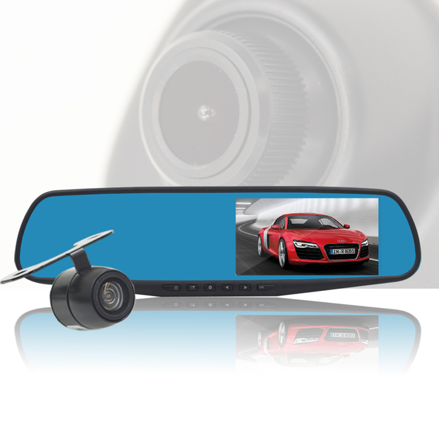 "4.3"" Car Dvr nuoyun NY-D19 Dvrs 140 Degree Wide Angle  dvr  hd 1080 P  Car Camera Recorder Motion Detection Night Vision"