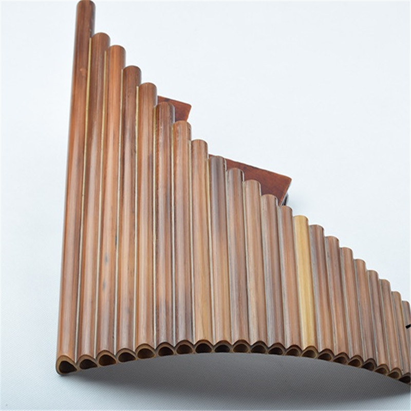 New Arrival C Key Pan Flute Left Hand 22 Pipes Music Instruments Brown Color Chinese Handmade Woodwind Instrument Pan PipesNew Arrival C Key Pan Flute Left Hand 22 Pipes Music Instruments Brown Color Chinese Handmade Woodwind Instrument Pan Pipes