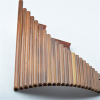 New Arrival C Key Pan Flute Left Hand 22 Pipes Music Instruments Brown Color Chinese Handmade Woodwind Instrument Pan Pipes