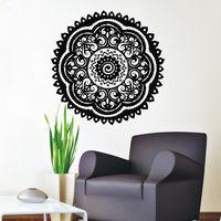PVC Wall Decals Mandala Indian Yoga Flowers Wall Stickers Om Vinyl Sticker Bedroom mural Muslin Window Showcase Decor D193