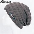 [Dexing] marca homens malha inverno caps skullies gorros bonnet gorro de lã quente baggy slouchy chapéus de inverno para mulheres dos homens chapéu feito malha