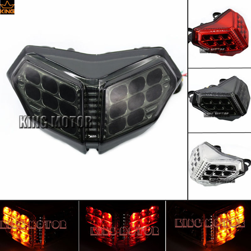 Motorcycler Accessories Integrated LED Tail Light Turn signal Blinker Smoke For DUCATI 848 1098 1198  new led tail light taillight turn signal lamp for ducati streetfighter s 848 1102012 2013 2014 smoke motorcycle parts