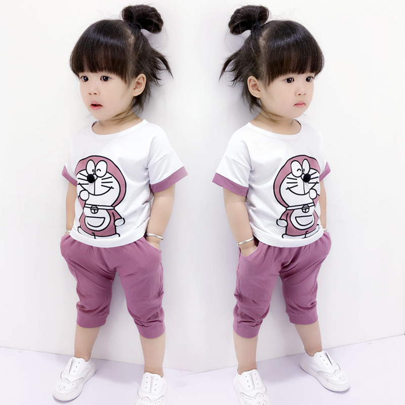 check out 5e722 92984 US $10.5 |Baby summer clothes set Female child 100% cotton short sleeve 2 3  4years child twin set summer-in Clothing Sets from Mother & Kids on ...
