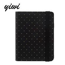 2017 Original Yiwi A5 A6 A7 Polka Dot Black Elastic Organizer Planner Diary Kawaii Notebook Diy Stationery 0ffice School