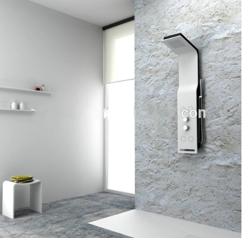 solid surface stone shower panel artificial stone wall mounted shower column manmade stone panel rs0052329