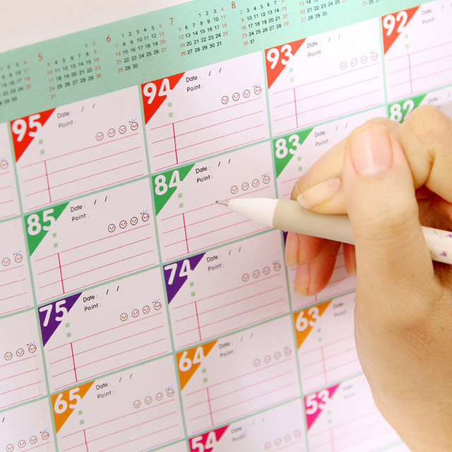 New 100 Day Weekly Daily Schedule Mini Memo Pad Sticky Notes ...