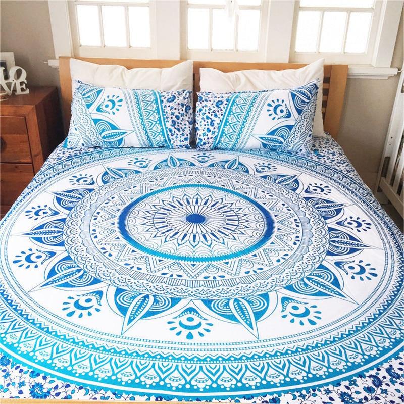 <font><b>Indian</b></font> Decor Mandala <font><b>Tapestry</b></font> Wall Hanging Hippie Throw <font><b>Bohemian</b></font> Ombre Bedspread 150x210cm