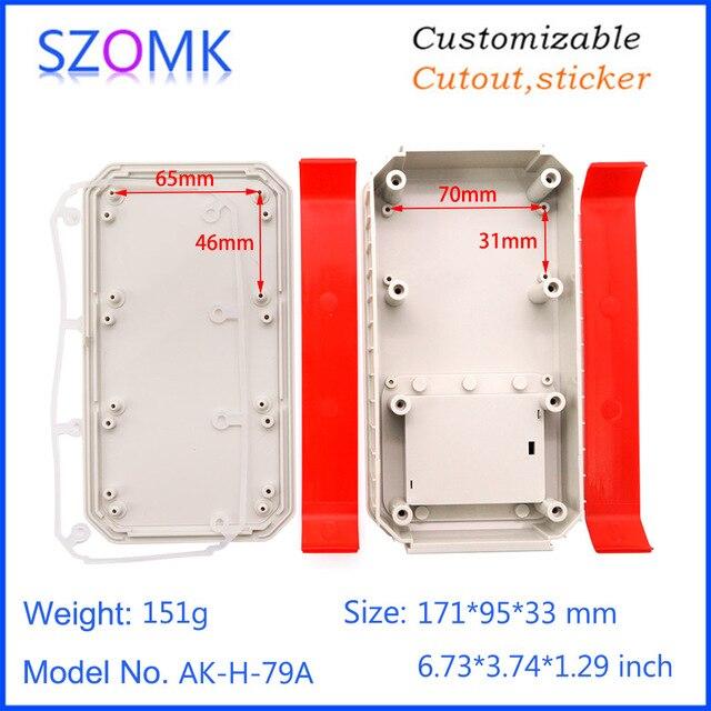 1 stück 171*95*33mm szomk kunststoff gehäuse 3x AA junction box wasserdichte instrument gehäuse pcb design IP65 kunststoff gehäuse