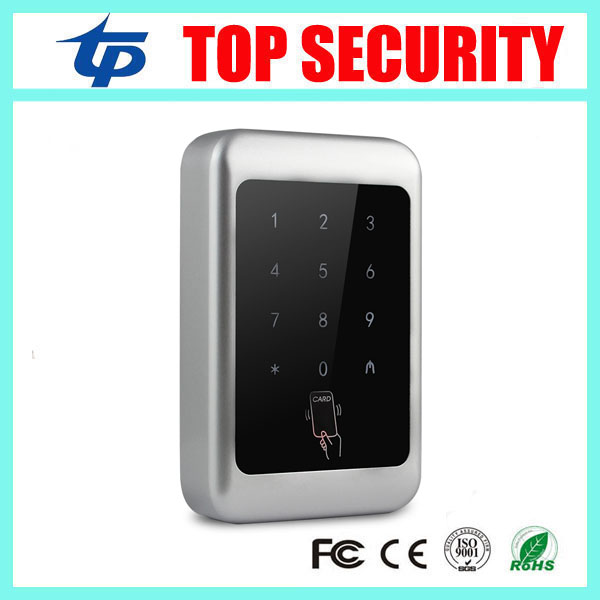125KHZ RFID card access control with touch led exit button waterproof weigand in and out access reader smart card access control waterproof touch keypad card reader for rfid access control system card reader with wg26 for home security f1688a
