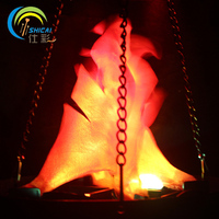 Hanging Type Top Flame Light Halloween Decoration For Party House Bar Brazier Lamp Artificial Flame Fake