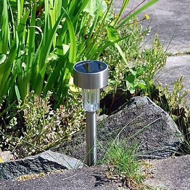 8pc de aço inoxidável led solar jardim