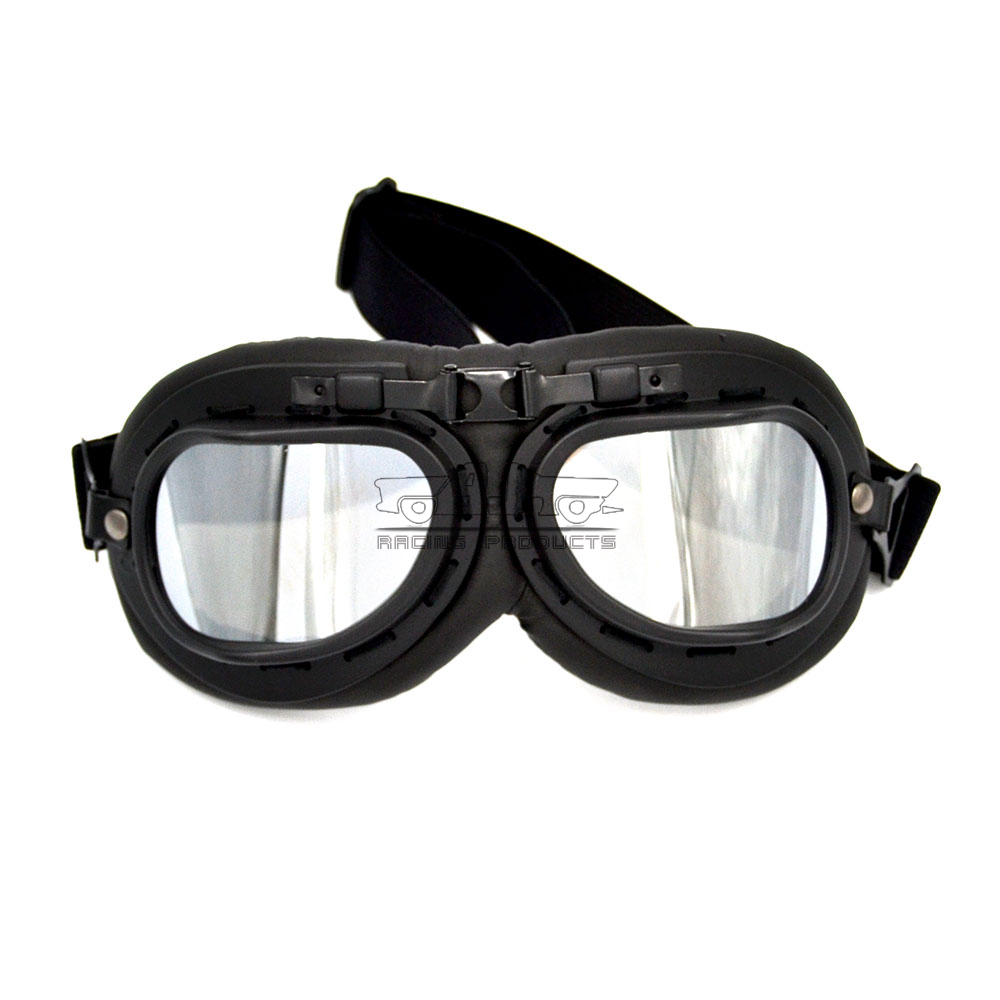 2019 Universal For Harley Racer Cruiser Motorcycle Goggles biker Flying Scooter Pilot Helmet Glasses Retro Vintage Pilot Goggles