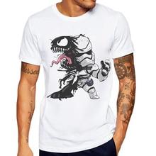 Funny Venom Robot T Shirt Man Cotton O Neck Short Sleeve Mens Tshirt Casual Creative Printing Fashion Men Shirts Male Clothing