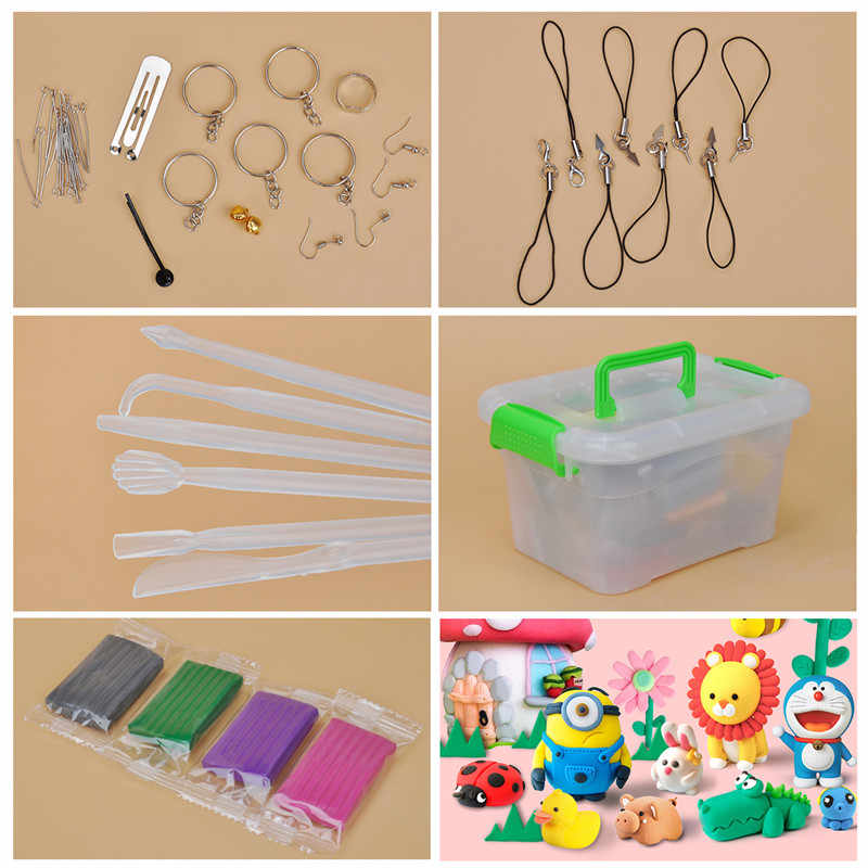 50 Color DIY Polymer Clay Fimo With Pottery Ceramic Tools Educational Toy Colorful Plastic Polymer Creative Birthday Gift