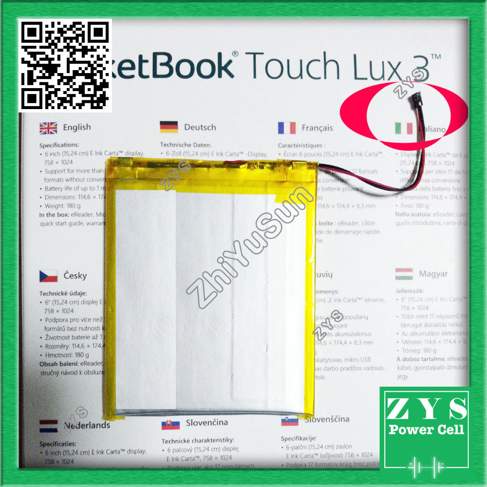 3.7V Li-ion battery for Pocketbook 614 Basic 2 Pocketbook Touch Lux 2 626 Pocketbook Touch Lux 3 626 battery Safety Packing lee блузка