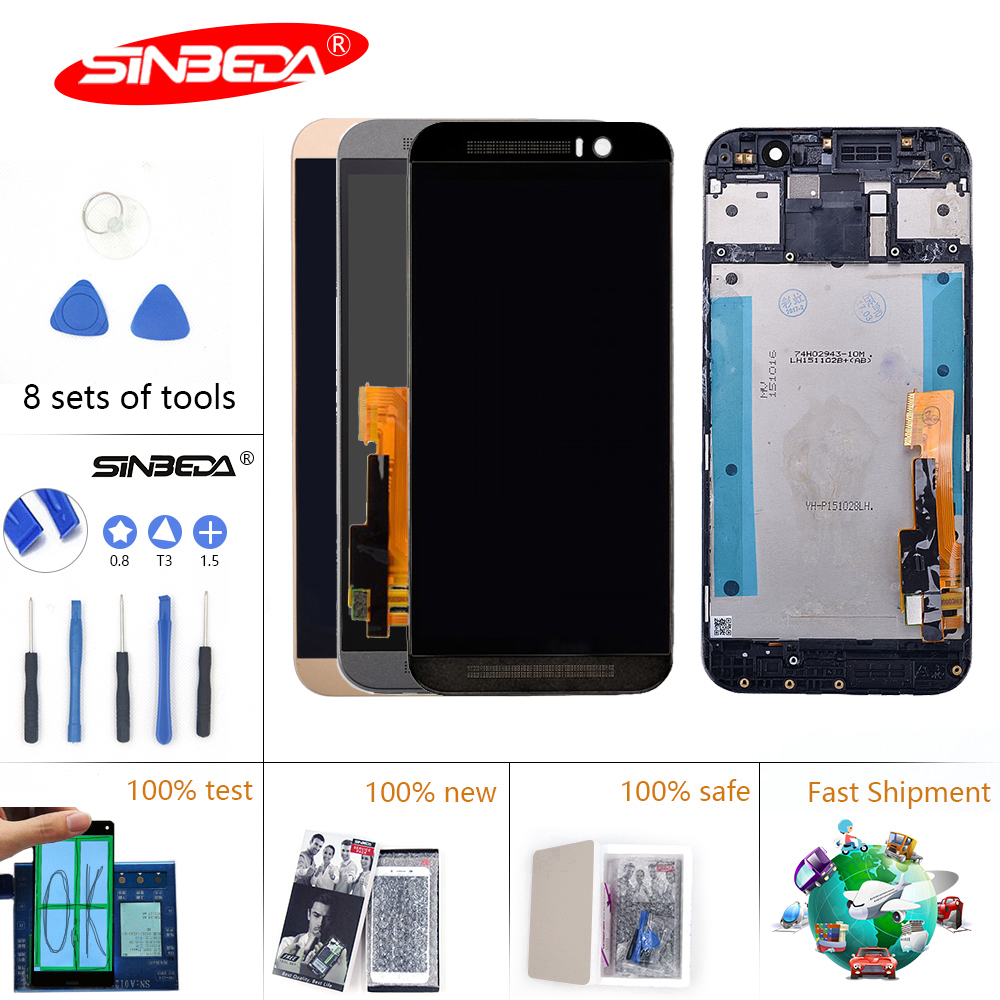 5Sinbeda IPS For HTC ONE M9 LCD Touch Screen with Frame For HTC ONE M9 Display Digitizer Assembly Replacement Parts M9E M9W5Sinbeda IPS For HTC ONE M9 LCD Touch Screen with Frame For HTC ONE M9 Display Digitizer Assembly Replacement Parts M9E M9W
