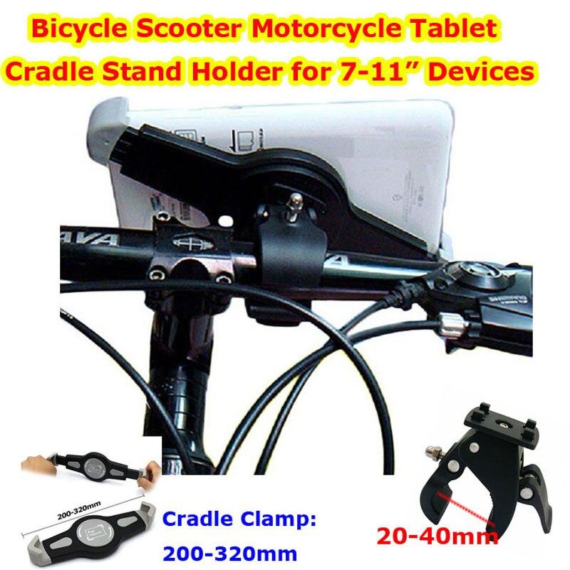 """imágenes para Envío libre bicicleta cochecito de scooter motocicleta soporte de la horquilla del sostenedor del montaje de la tableta brazo extensible para 7-11 """"ipad mini ipad2 4air"""
