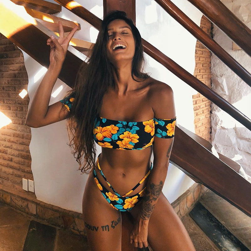 Sexy Bikinis Women Swimwear Push Up Swimsuit Bandeau Bikini Set Brazilian Biquini Bathing Suit Female Beachwear Swim Wear Beach
