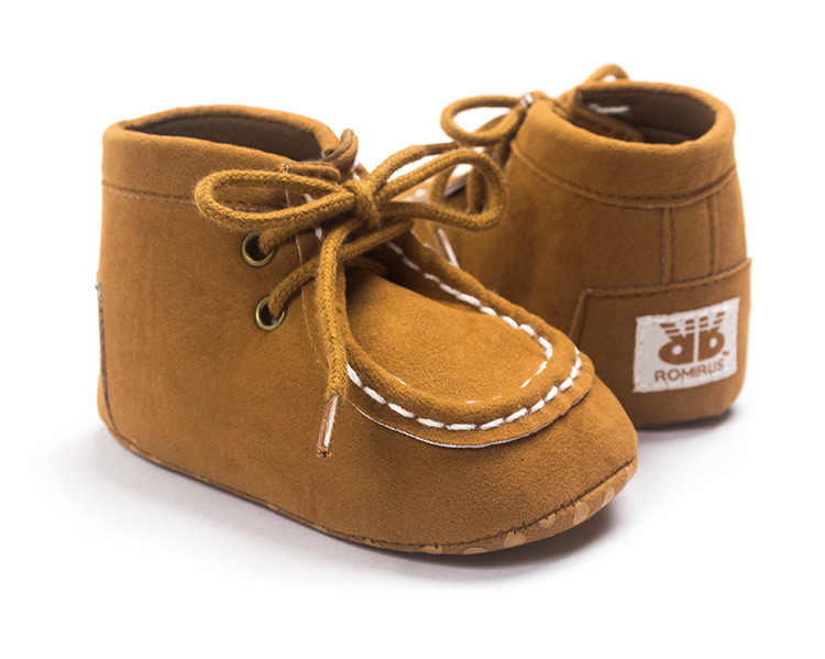 2016 Spring Autumn Fashion Baby Moccasin 0-1 Baby Shoes Infant Boys Soft Non-slip Toddler Shoes Indoor Prewalkers Unisex Boots