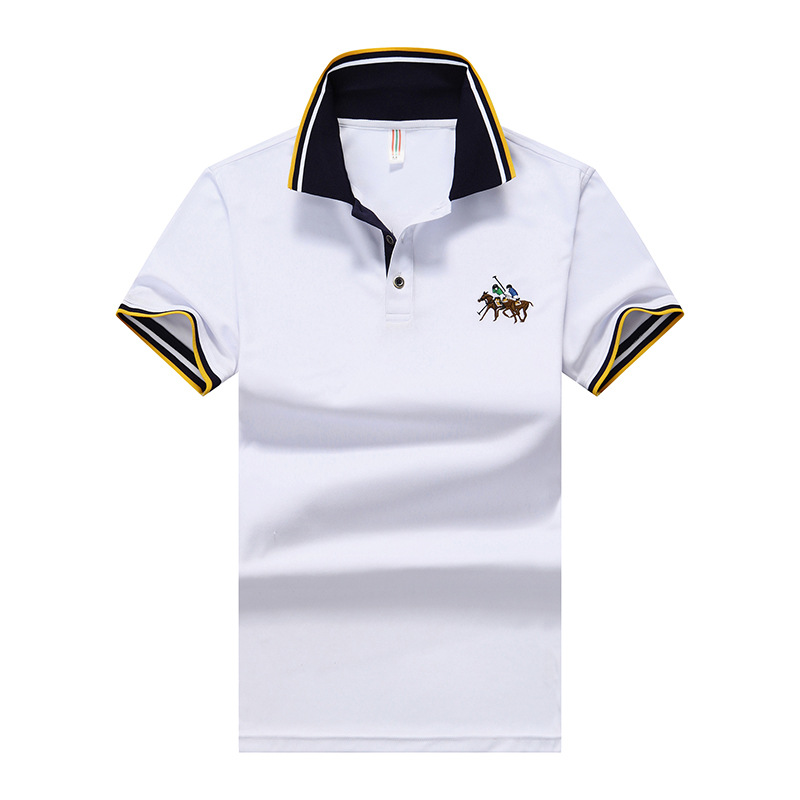 Eden Park Men's Embroidered Men's   Polo   Shirt High Quality Cotton Shirts Casual Striped Short Sleeve   Polos   Plus Size M-8XL;YA268