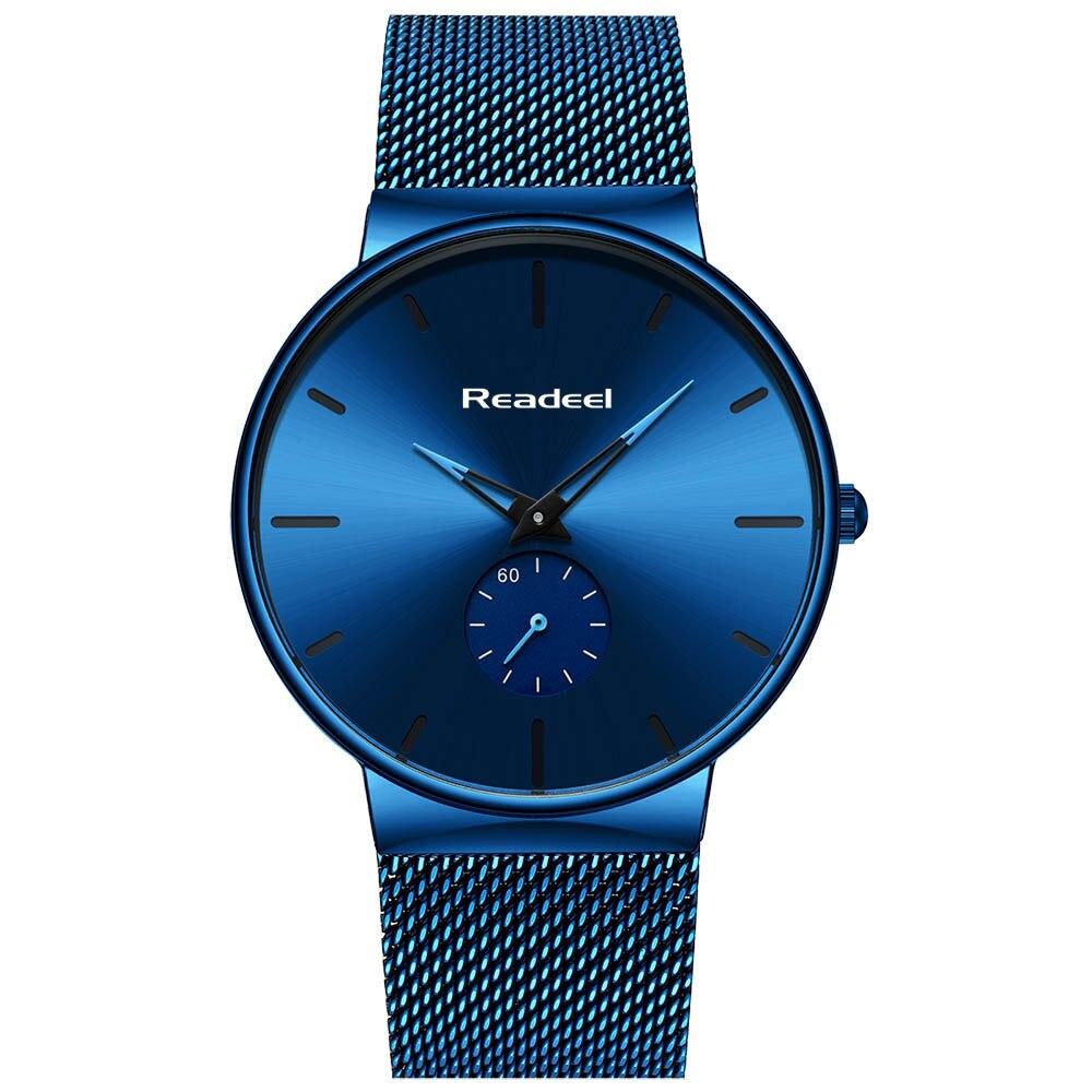 Image 2 - Readeel Watch Men Fashion Sport Quartz Watch Clock Mens Watches Luxury Casual Full Steel Waterproof Wristwatch Relogio Masculino-in Quartz Watches from Watches