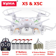 SYMA X5C RC Drone With HD Camera Quadcopter 6-Axis Remote Control Toys Helicopter Syma X5 No Camera Dron(China)