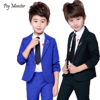 Wedding Suit For Flower Boys School Student Formal Performance Dress Gentleman Kids Blazer Pants 2Pcs ceremony Costumes F155