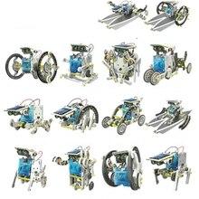 13 в 1 образовательный комплект солнечных роботов робот, работающий от солнечной энергии DIY Собранный игрушечный автомобиль Лодка животные блоки детские игрушки подарок