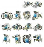 13 En 1 Robot Solar educativo Kit de energía Solar Robot DIY juguetes de coche barco bloques de animales, juguetes de los niños regalo