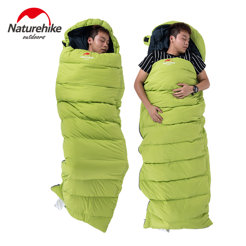 Naturehike 0 Degree Cotton Down Mixture Envelope Sleeping Bags Splicing Single Adult Camping Slepping Bag 210t polyester plaid sleeping bag winter sleeping outdoor camping sport adult envelope type cotton splicing single sleeping bags