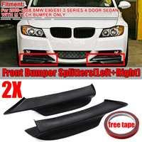 A Pair Car Front Bumper Lip Splitter For BMW E90 E91 3 Series 4Dr Sedan M Tech 2005 2006 2007 2008 Bumper Spoiler Diffuser Lip