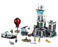 New Police Prison Island Building Blocks Toys Hot air balloon Prison Break Model Bricks gift For Children