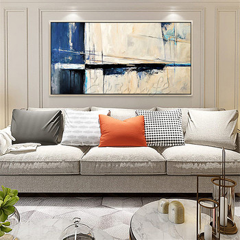 Nordic canvas painting wall art pictures for living room home decor modern abstract hand painted quadros art cuadros decoracionD