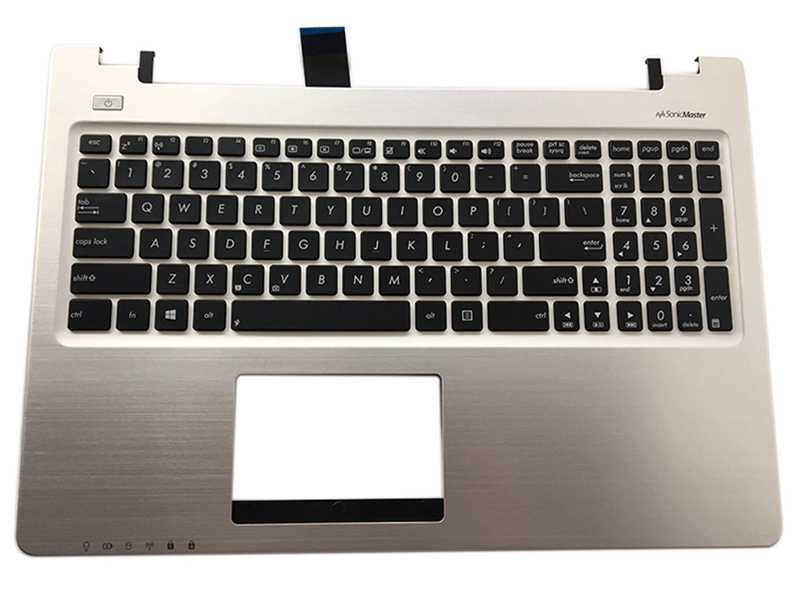 New Laptop Keyboard for ASUS R505C S550C V550C K56CM S56C A56C Palmrest Cover + Keyboard Bezel