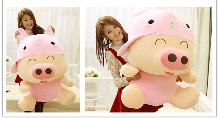 ФОТО Animal McDull doll cute pig cuddly toy pig baby pigs plushed toys valentine's day gift about 70cm pink