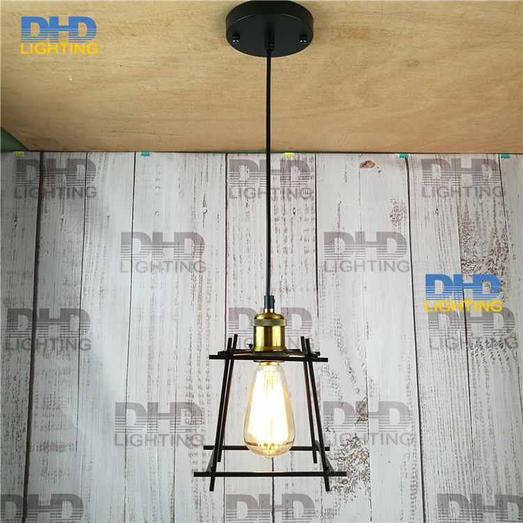 Loft Industrial Pendant Lights Vintage RH Edison Lamp E27 110 220V small cage hanging lamp For Home Decor Restaurant Luminarias new loft vintage iron pendant light industrial lighting glass guard design bar cafe restaurant cage pendant lamp hanging lights