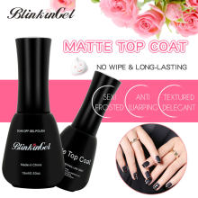 Blingel 2 pc 15 ml mate capa superior juego de esmalte de uñas Gel barniz escarcha Color claro de uñas en polaco en resina(China)