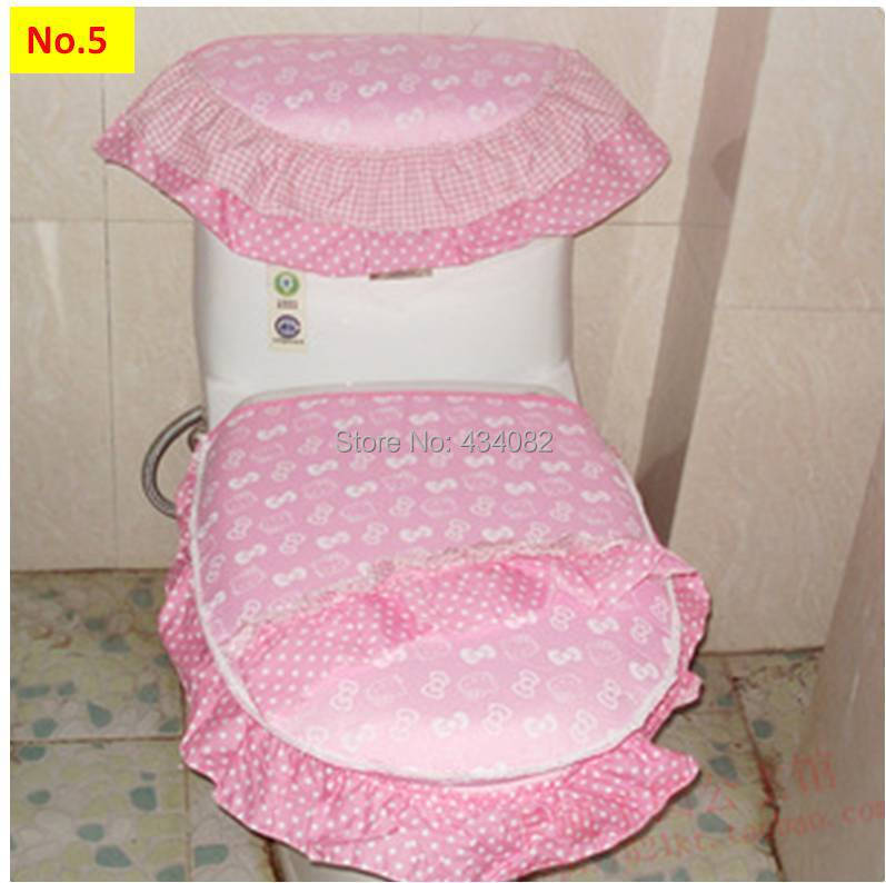 Bathroom Accessories Toilet Seat Cover Set Hello Kitty Covers With