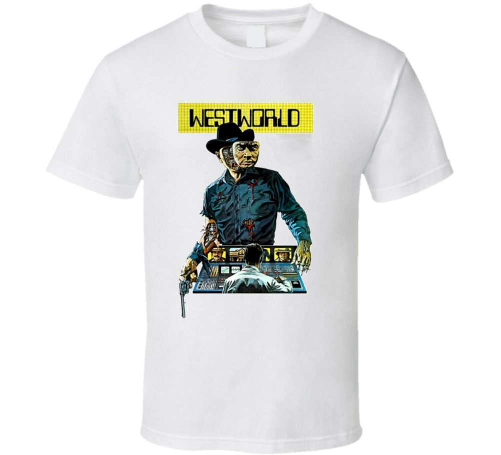Westworld Sci Fi Movie T Shirt Short Sleeve Plus Size discount hot new top free shipping t-shirt image