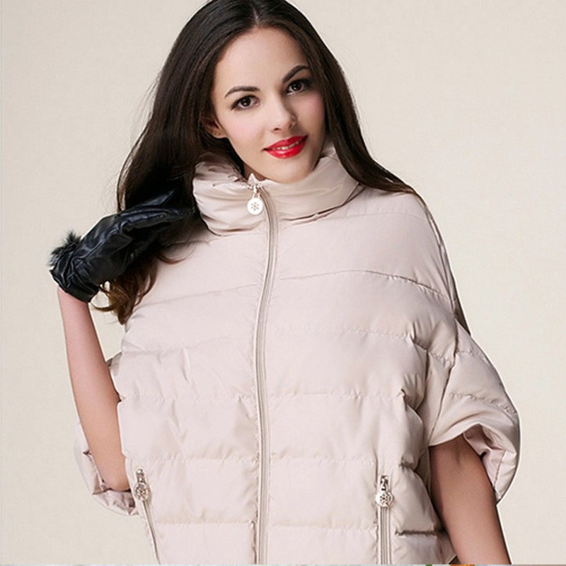 Fashion Womens Winter Coat Bat Sleeve Jackets Female Maxi Cloak Type Coat Female Loose Casual Parka Wadded Cotton Jacket C1097 modern home ottoman dressing stool changing room chair wedding chair decorations