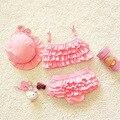 Дети купальники девушки два-шт ребенок купальник с рюшами русалка хвосты для детей бикини девочка маленькие девочки купальники
