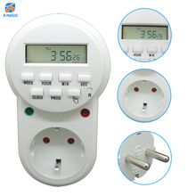цена 230V 50HZ Electronic Digital Timer Switch EU Plug Count Down Timer Outlet 7 Day 24 Hour Programmable Timing Socket