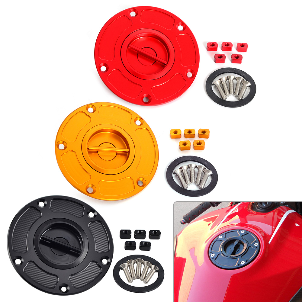 NICECNC Keyless Fuel Gas Cap For DUCATI MONSTER 696 796 1100 EVO 899 959 1199 1299 Panigale Streetfighter 848