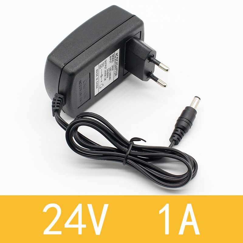 1PCS 2018 Newest Hot EU Plug AC 110V 220V Converter DC <font><b>24V</b></font> 1A Server Power Supply <font><b>Adapter</b></font> image