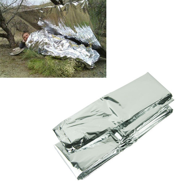 Silver Thin Emergency Blankets Survival Rescue Curtain Outdoor Life-saving Survival Blanket And Shelter Accessories 4A