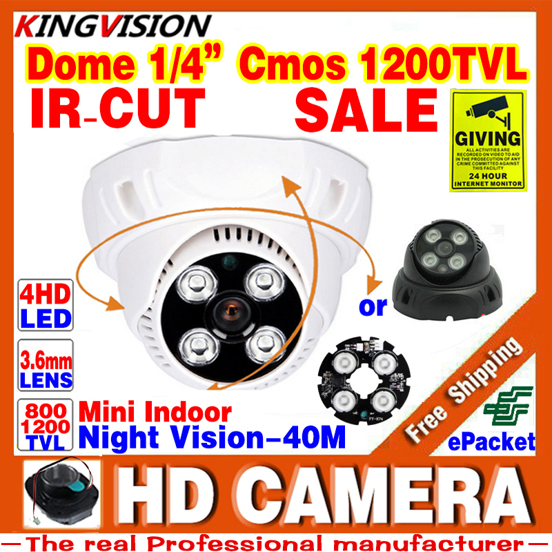 2017sale Real 1/3cmos 1200TVL HD Security Surveillance Cctv Camera Leds IR-cut Indoor 960H Dome Infrared Night Vision Home Video big sale 1 3cmos 1200tvl cctv hd dome camera surveillance indoor 22led infrared ir cut night vision monitoring security vidicon