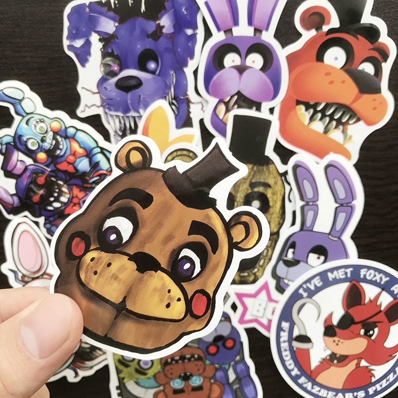 AQK 11Pcs/Lot Game Five Nights at Freddy Stickers PVC Graffiti Sticker For DIY Toy Notebook Luggage Laptop Phone Bike Car Decals