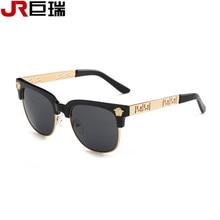 Jurui nuevo polarizado Gafas de sol mujeres j6607 retro remache de alta calidad lente Polaroid Marca Diseño Sol Gafas oculos femeninos #1126